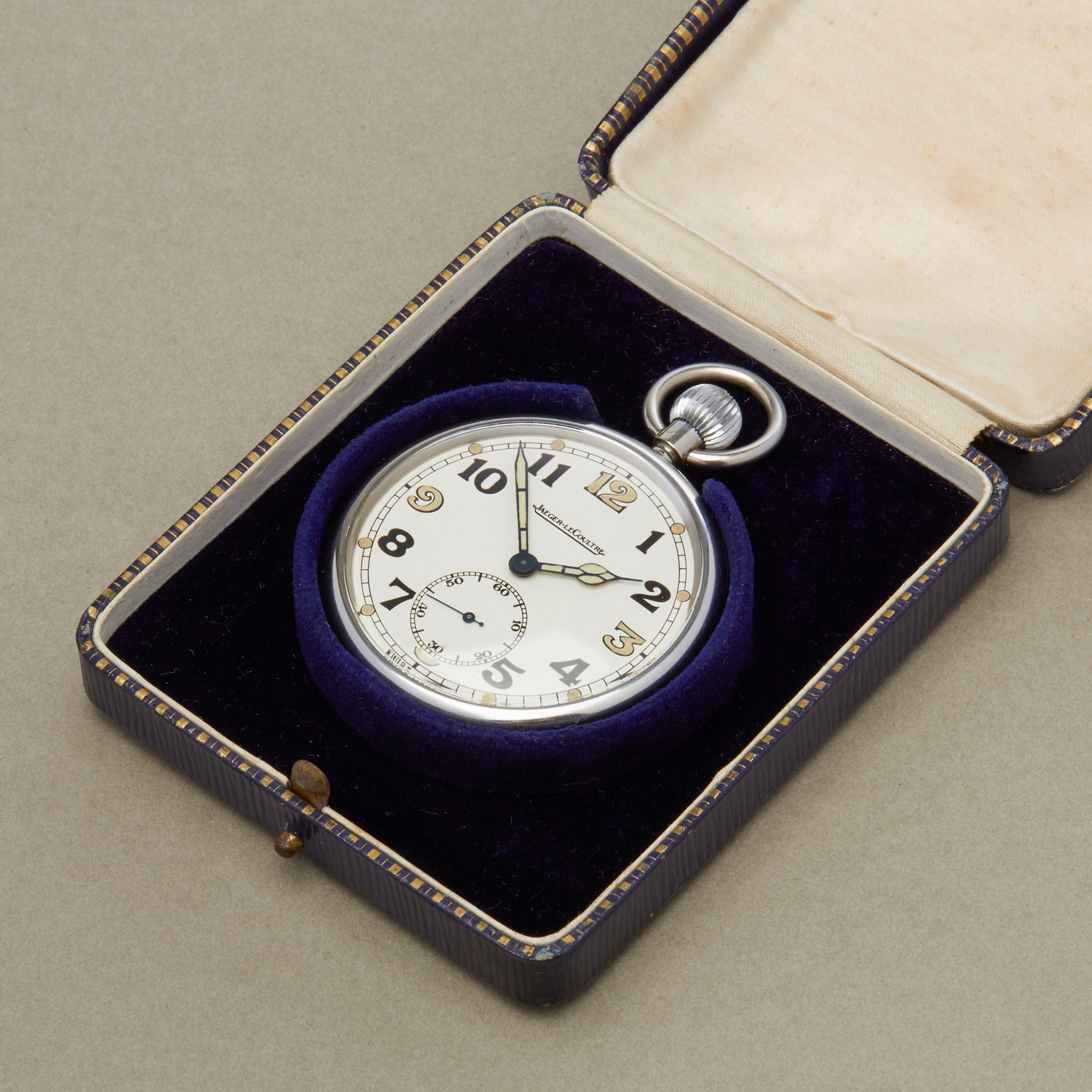 Jaeger-LeCoultre Pocket Watch G.S.T.P Military pocket watch Roestvrij Staal 467/2