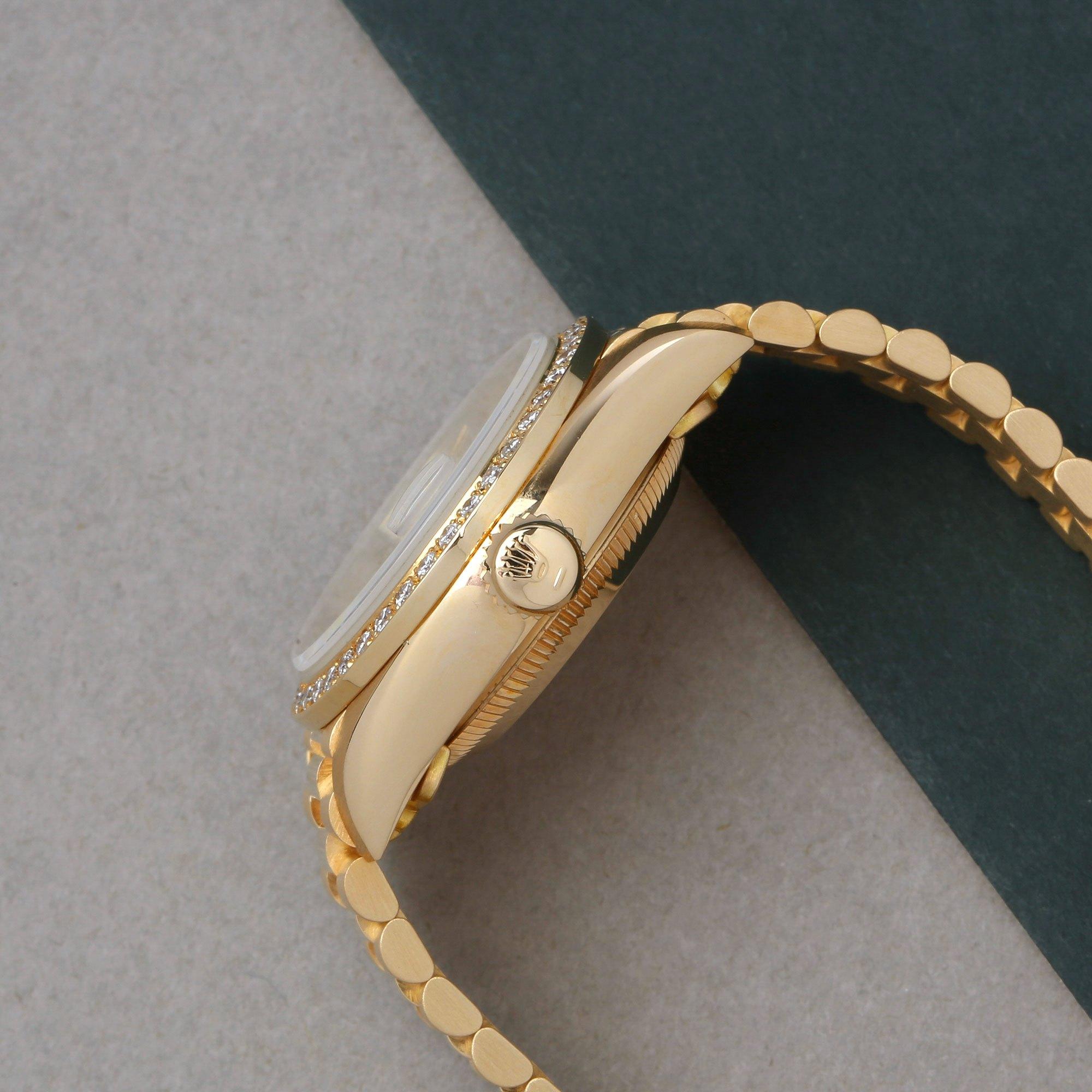 Rolex Datejust 26 Factory Diamonds 18K Geel Goud 69178