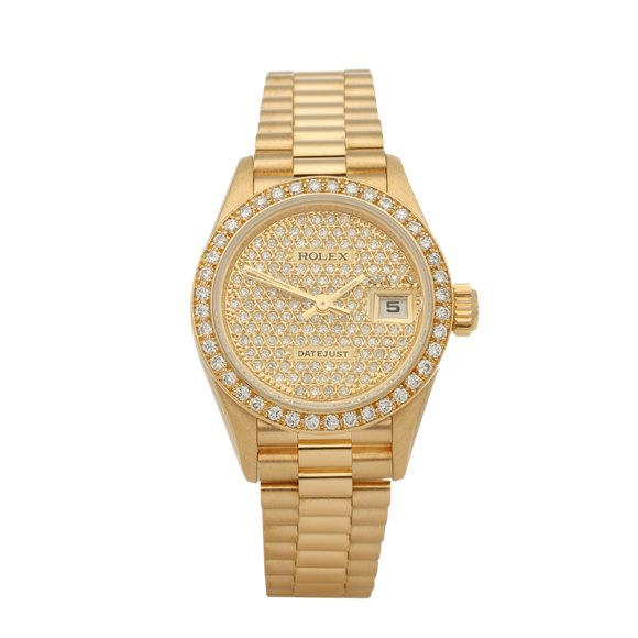 Rolex Datejust 26 Factory Diamonds 18K Yellow Gold - 69178