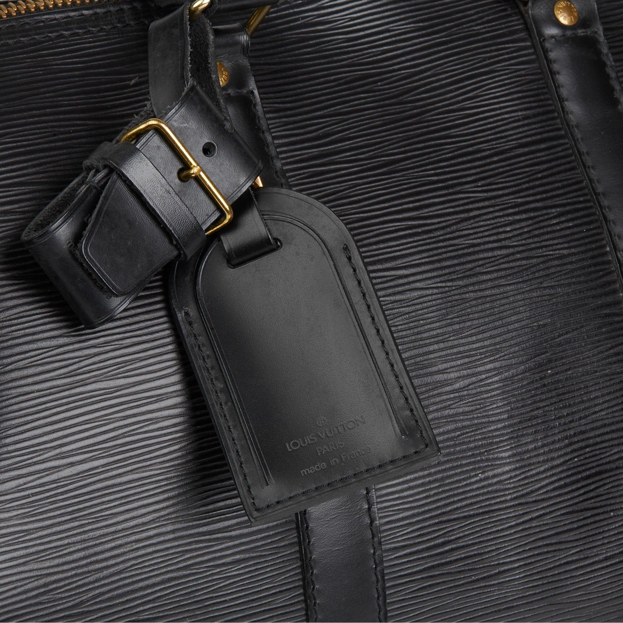 Louis Vuitton Black Epi Leather Vintage Keepall 45