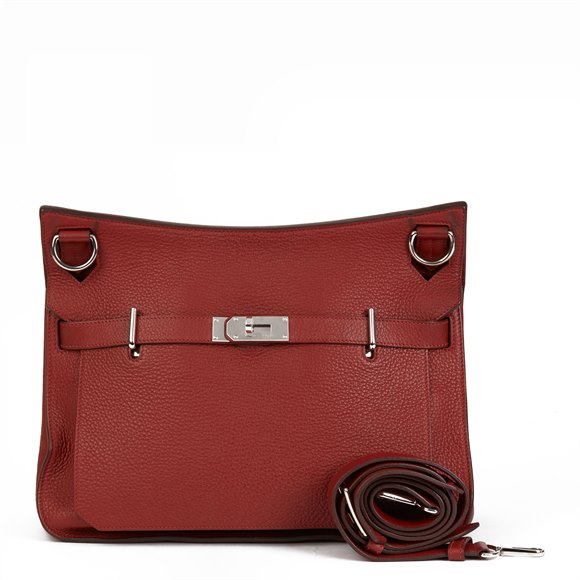 Hermès Rouge H Togo Leather Jypsiere 37