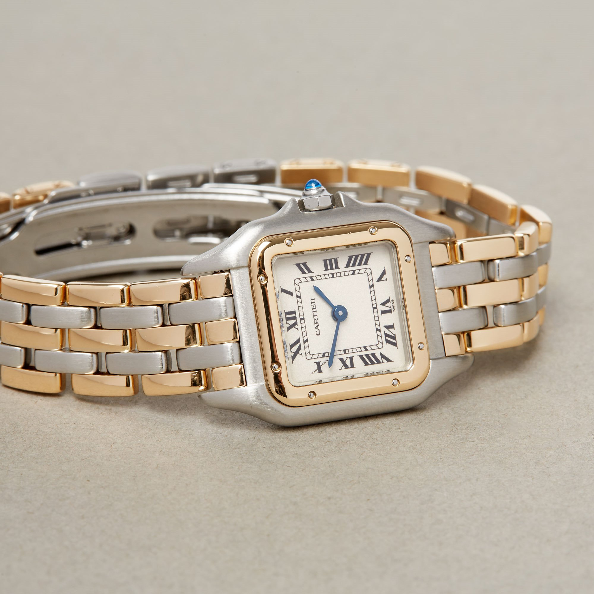Cartier Panthère 3 Row 18K Stainless Steel & Yellow Gold 1057917