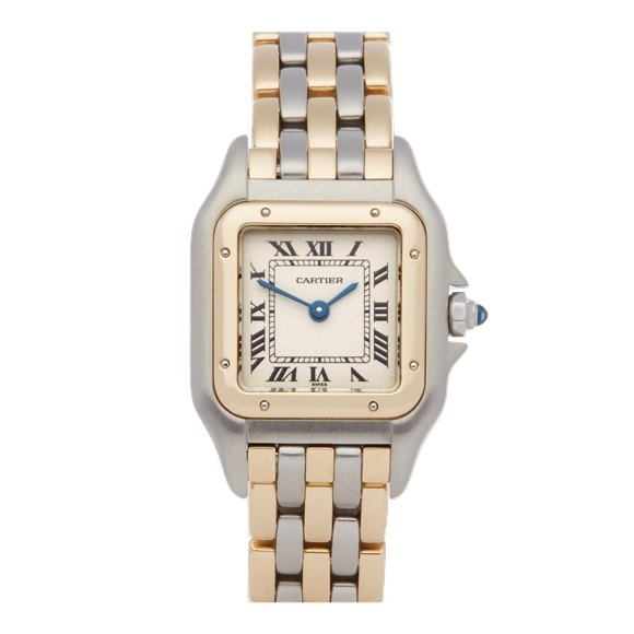 Cartier Panthère 3 Row 18K Stainless Steel & Yellow Gold - 1057917