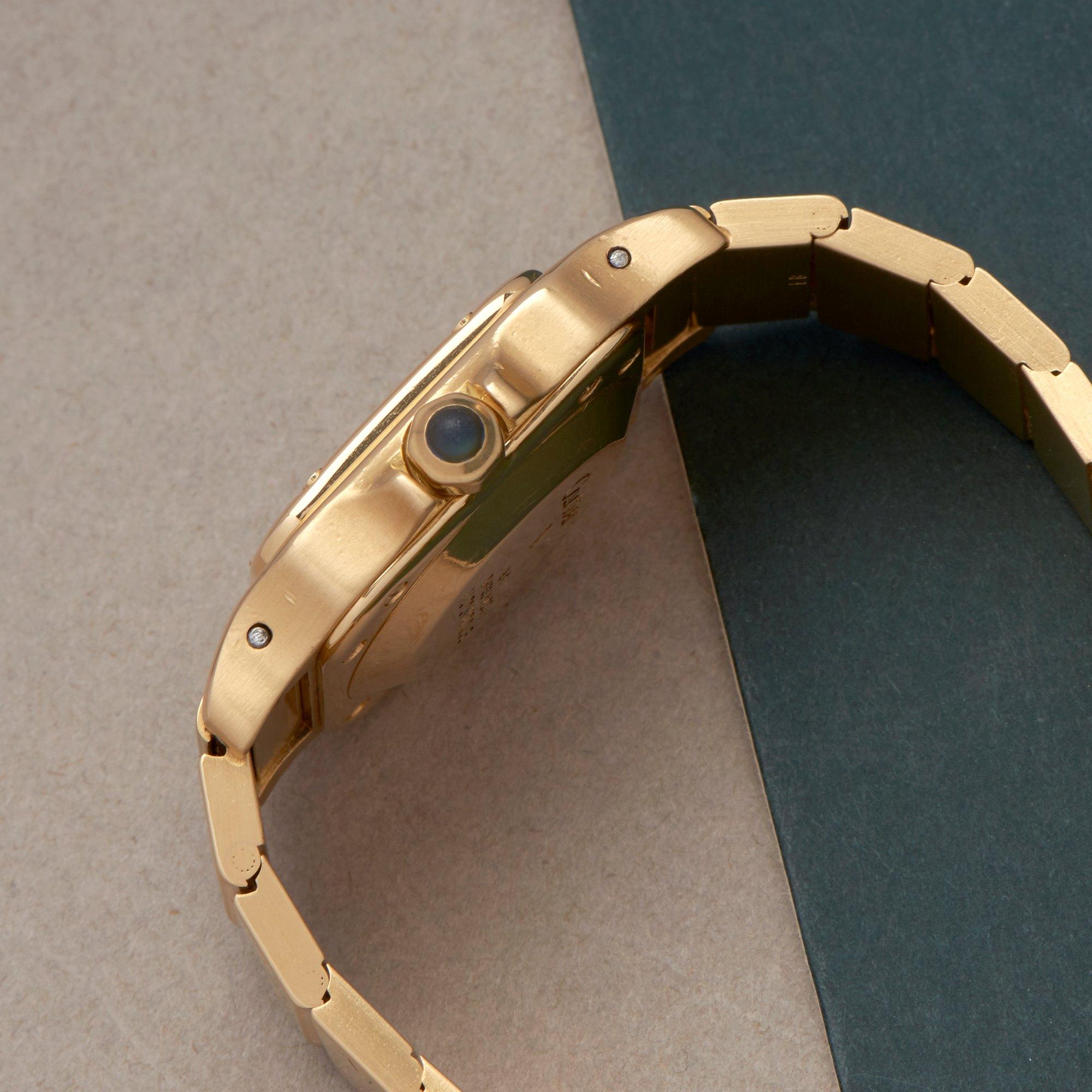 Cartier Santos Galbee Automatique 18K Yellow Gold 866930