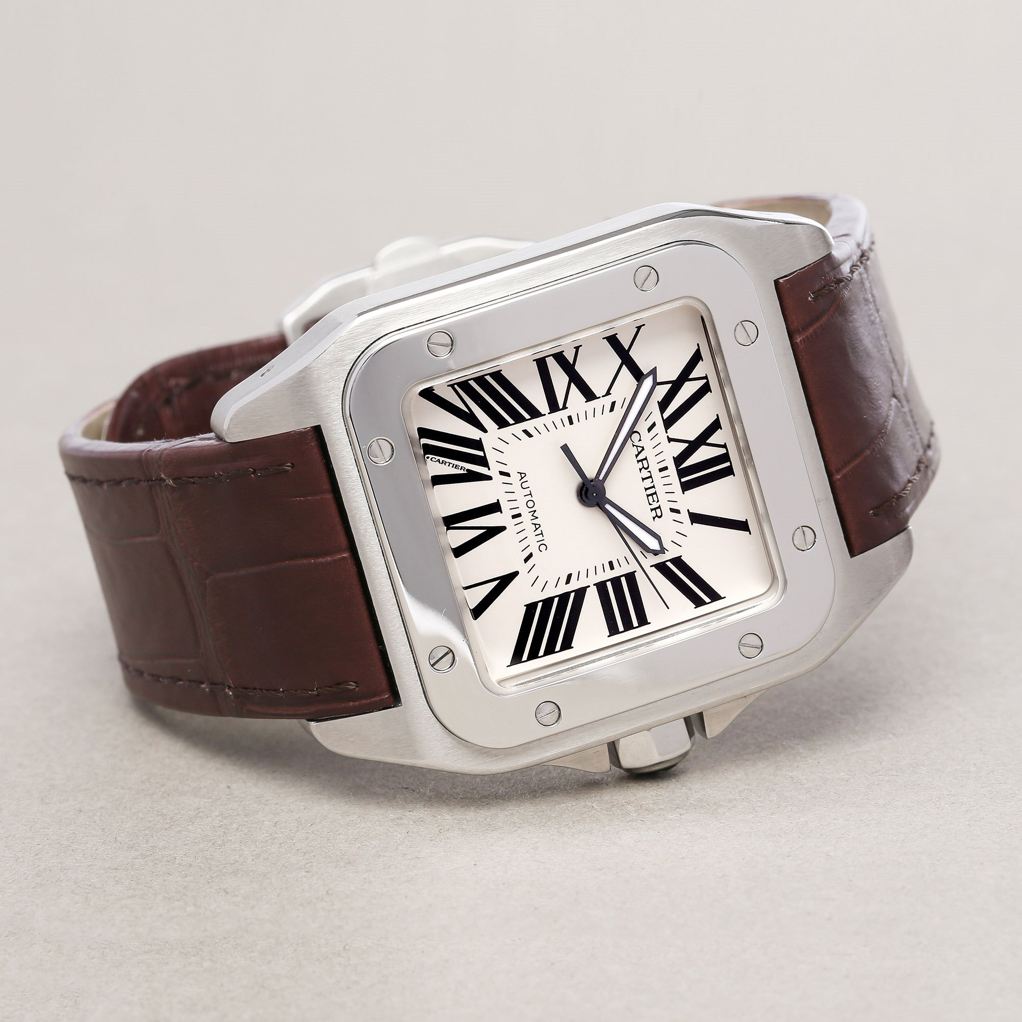 Cartier Santos 100 Large Stainless Steel W20073X8 or 2856
