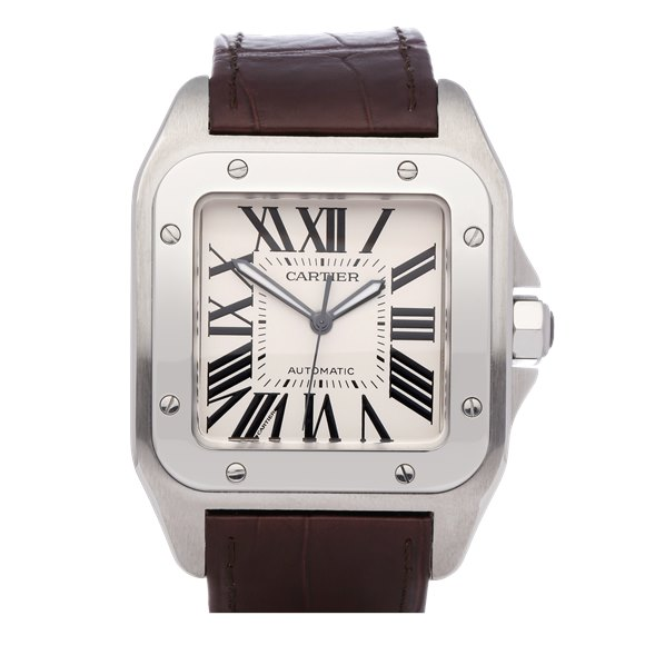 Cartier Santos 100 Large Stainless Steel - W20073X8 or 2856
