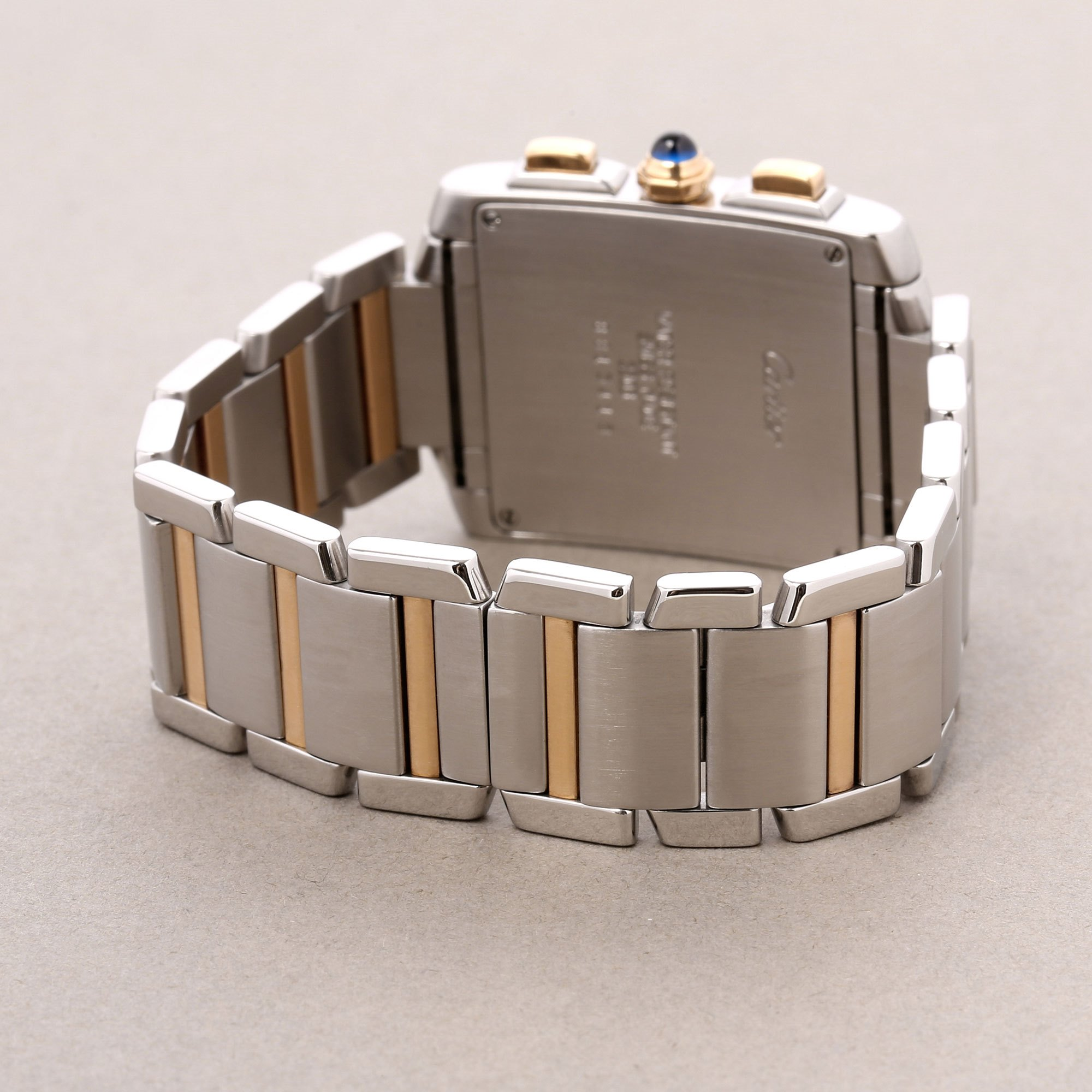 Cartier Tank Francaise Chronoflex 18K Roestvrij Staal & Geel Goud W51004Q4 or 2303