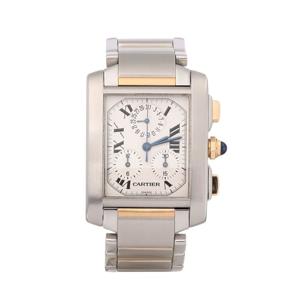 Cartier Tank Francaise Chronoflex 18K Stainless Steel & Yellow Gold - W51004Q4 or 2303