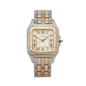 Cartier Panthère Mid Size Two Row 18K Stainless Steel & Yellow Gold