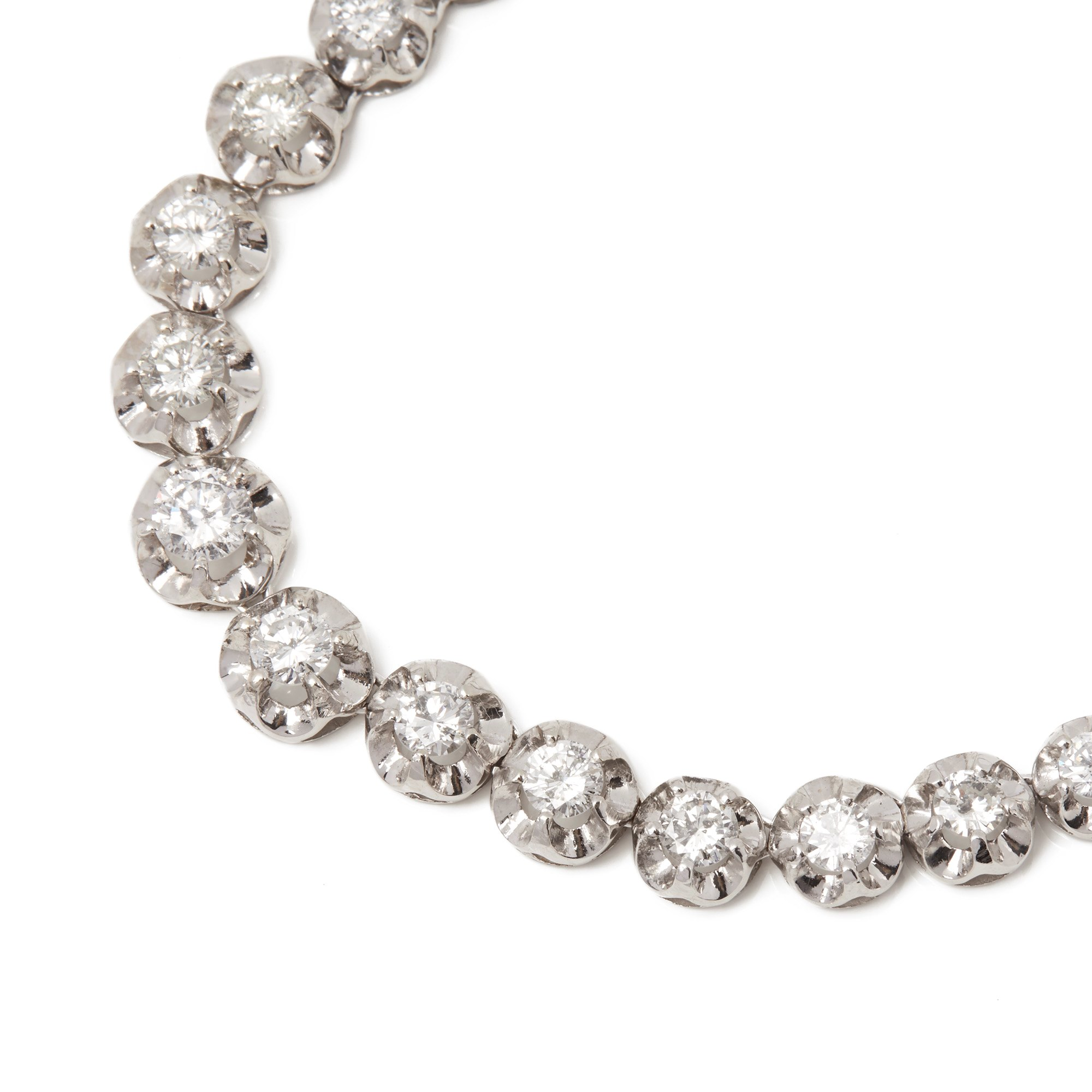 Diamond 18ct White Gold Graduated 8.8ct Diamond Necklace