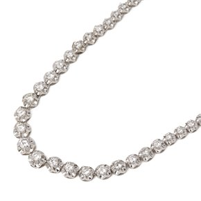 18ct White Gold Graduated 8.8ct Diamond Necklace