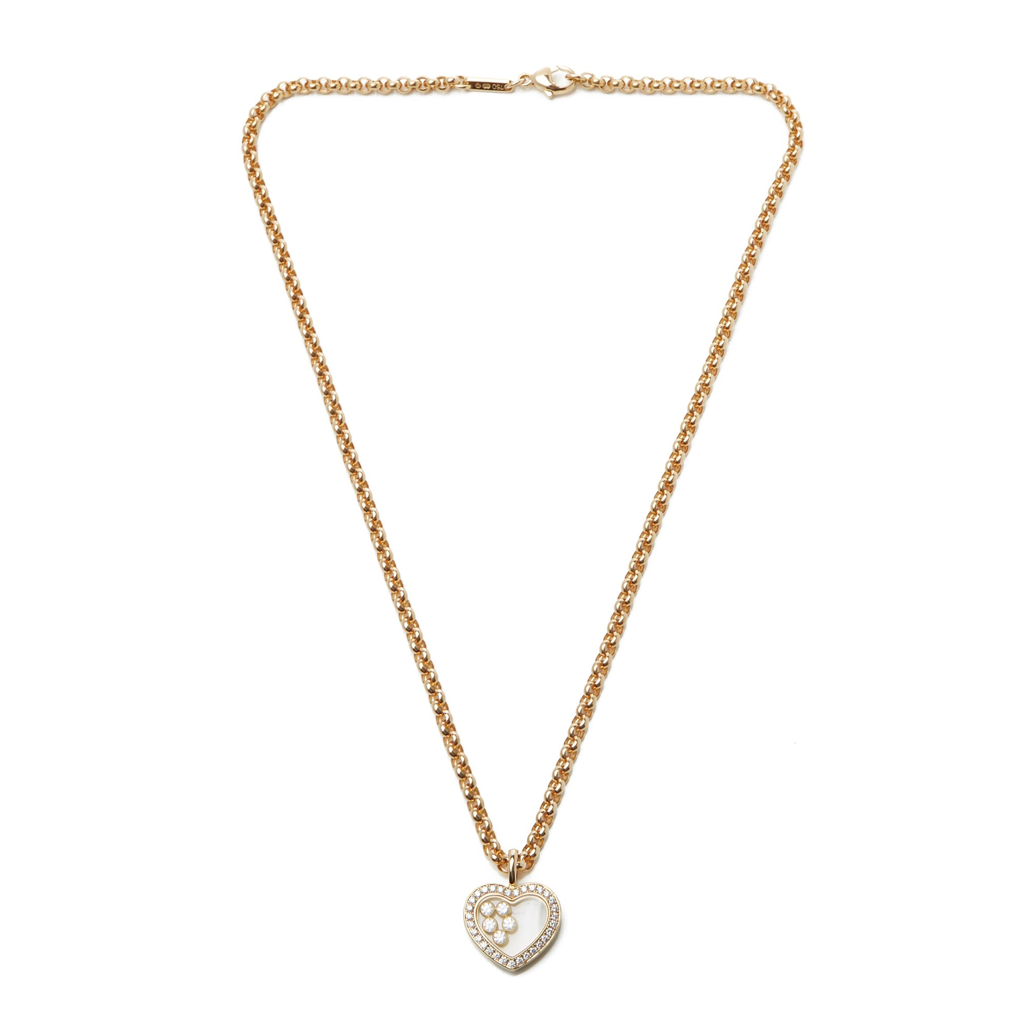 Chopard 18ct Gold Happy Hearts Diamond Pendant