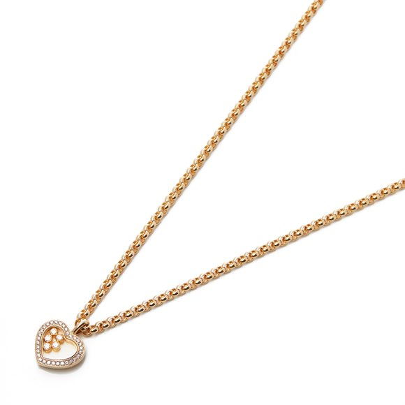 Chopard 18k Gold Happy Hearts Diamond Pendant