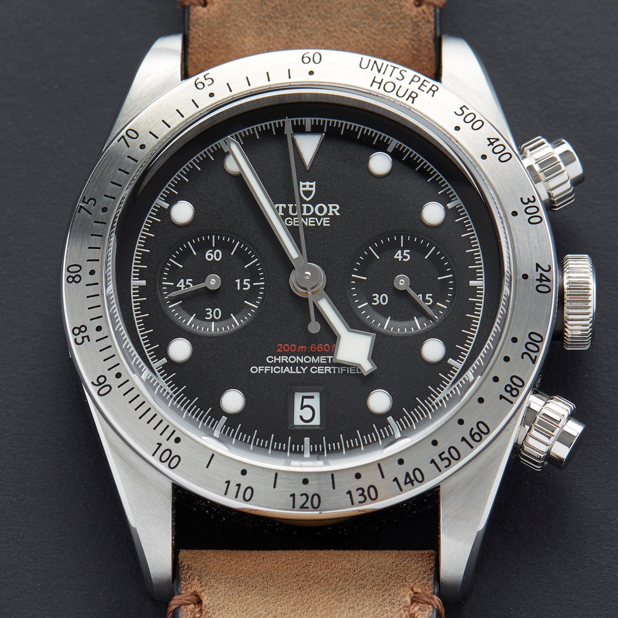 Tudor Black Bay Chronograaf Roestvrij Staal 79350