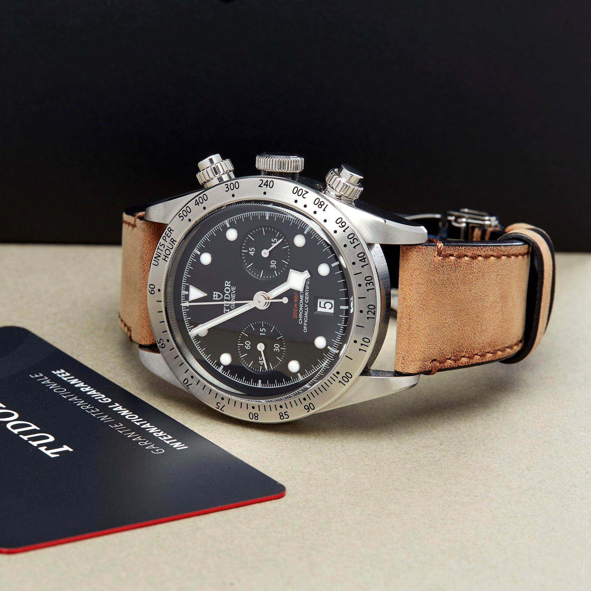 Tudor Black Bay Chronograph Stainless Steel 79350