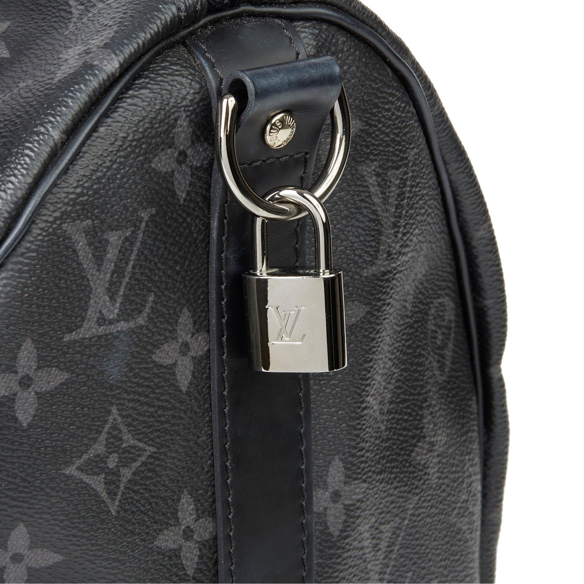 Louis Vuitton Eclipse Monogram Coated Canvas & Cowhide Leather Keepall Bandoulière 45