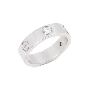 Cartier Love 3 diamond 18ct White Gold Ring