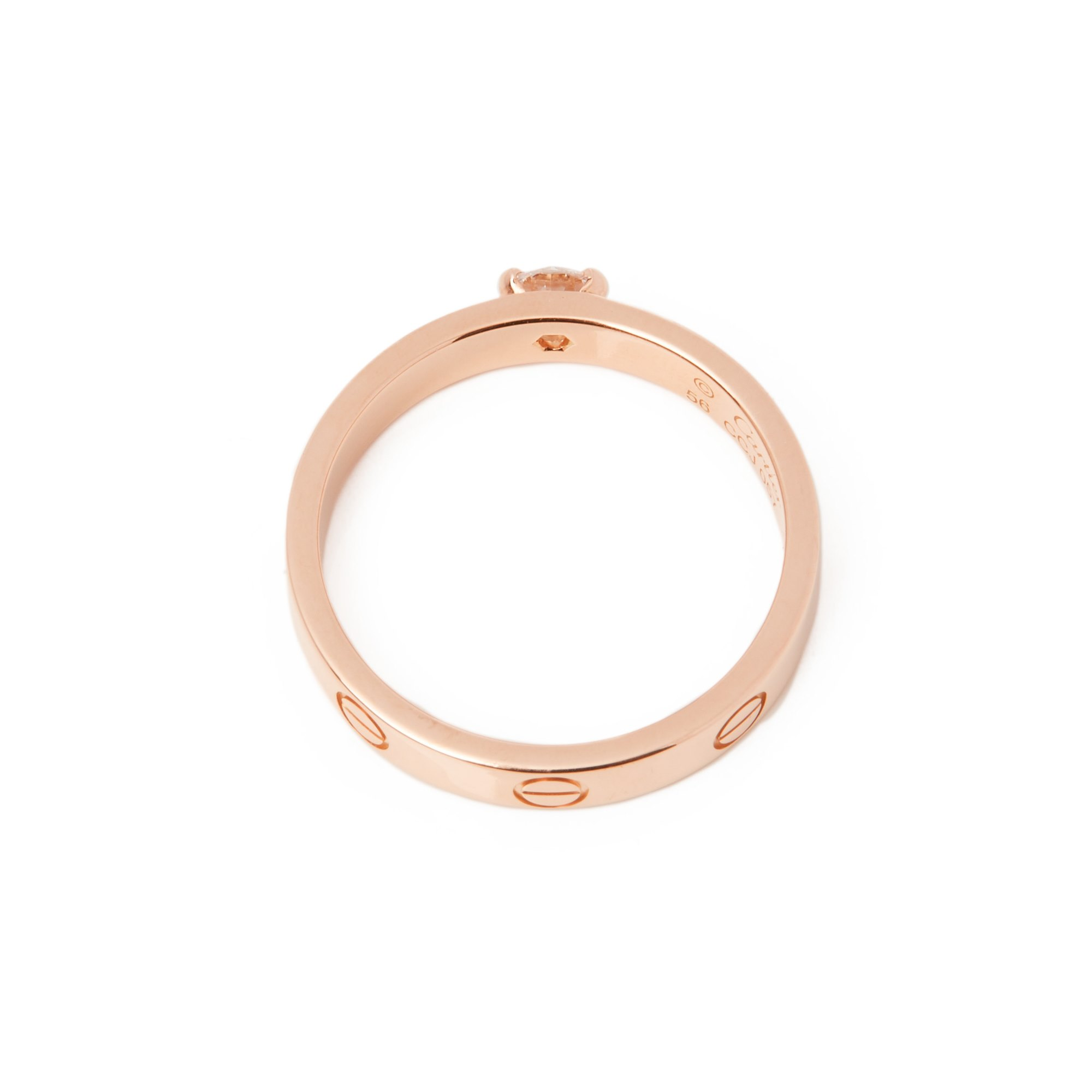 Cartier Love 0.24ct Solitaire 18ct Rose Gold Ring