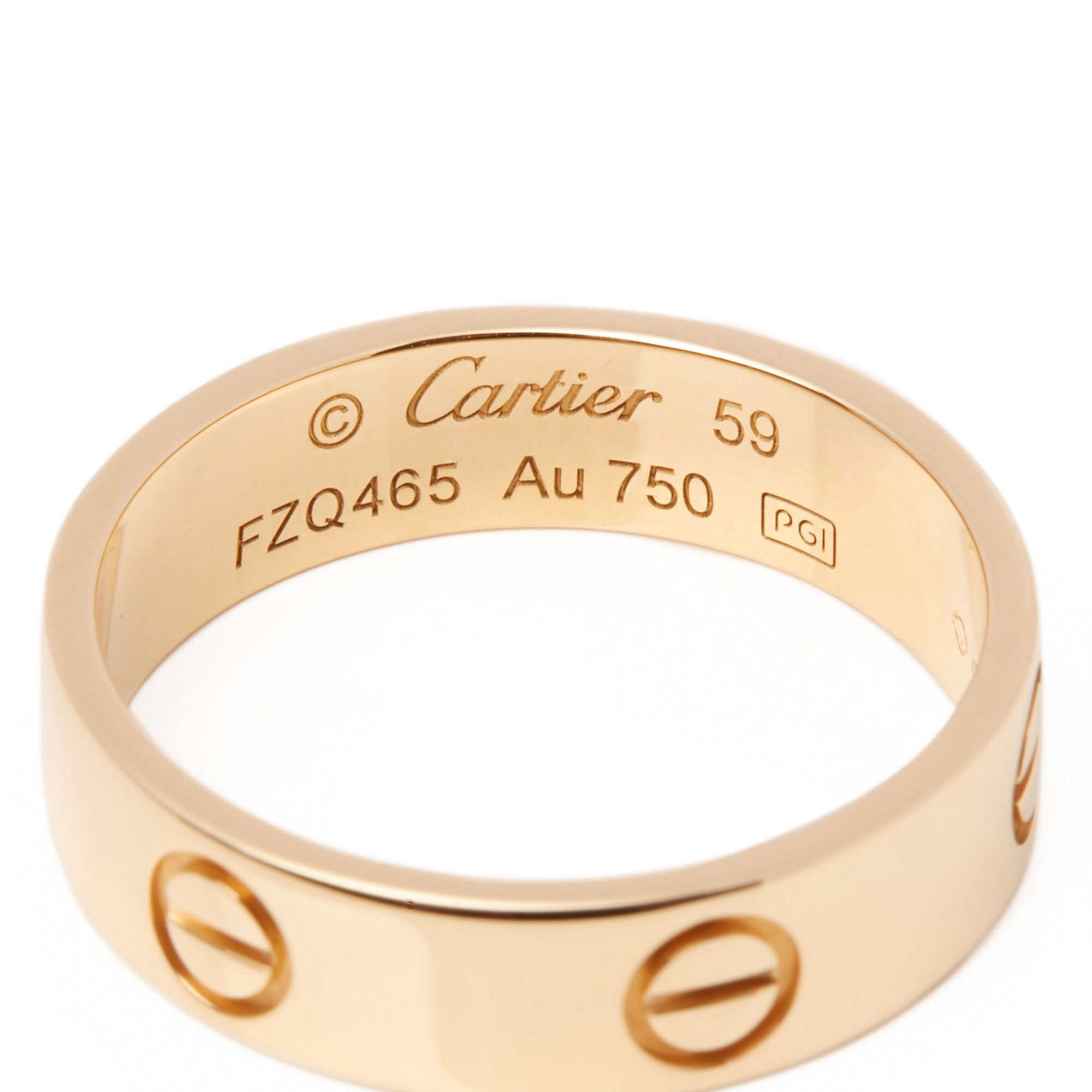 Cartier Love 18ct Yellow Gold Band Ring