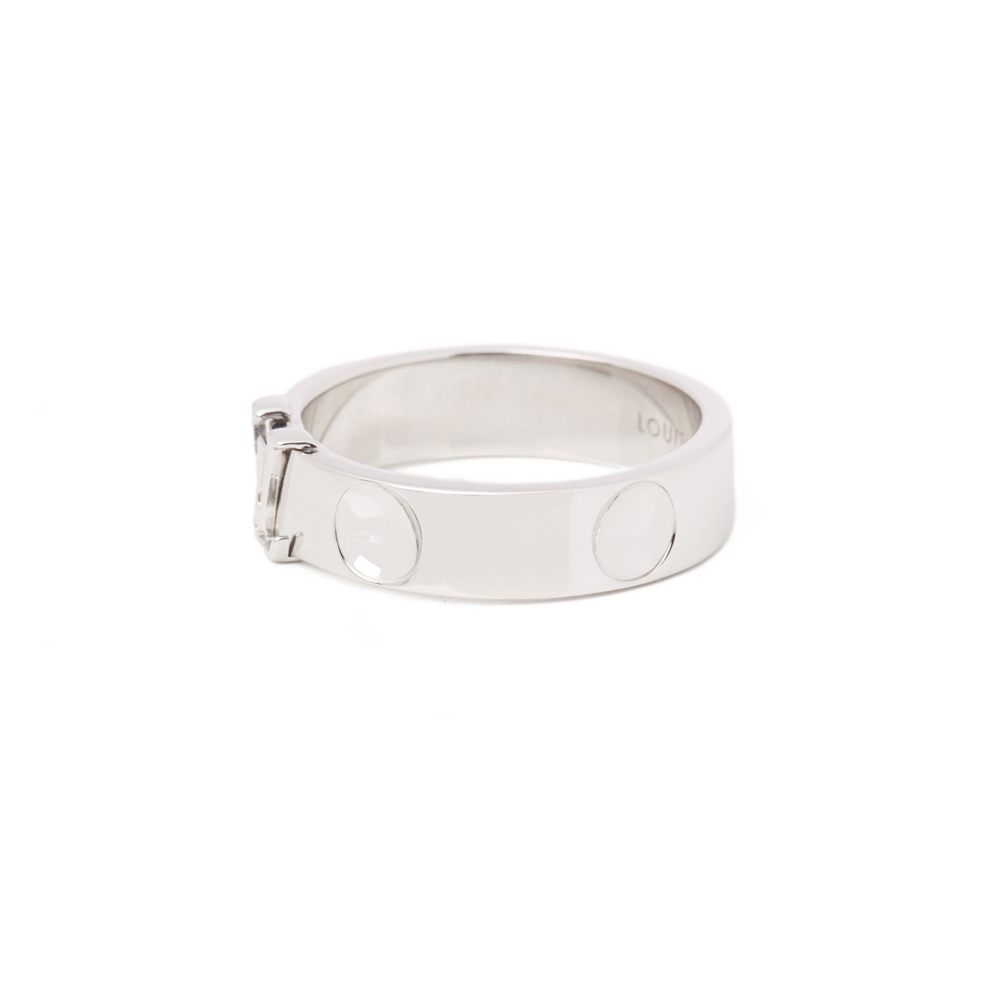 Louis Vuitton Empriente 18ct White Gold Band Ring