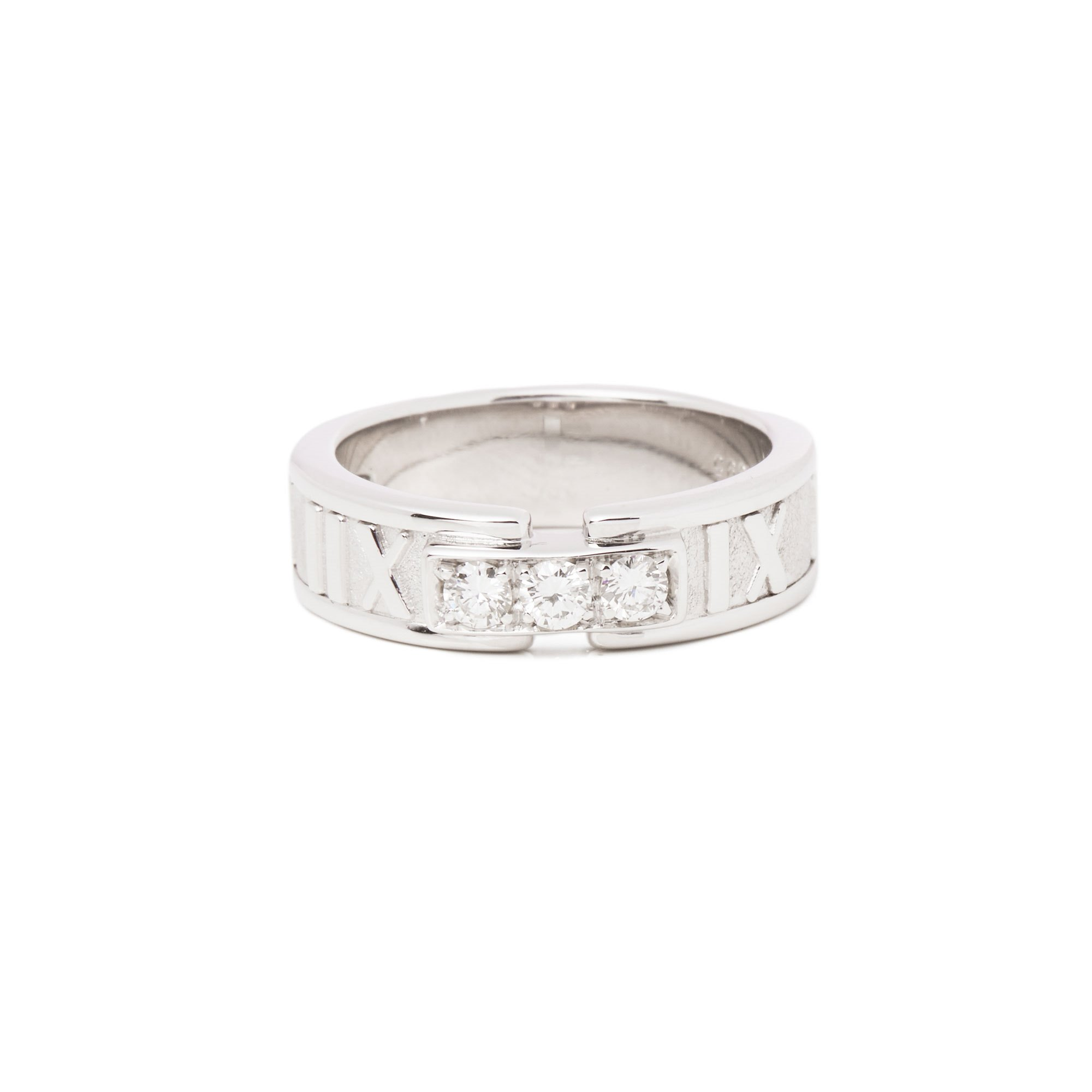 Tiffany & Co. Atlas Diamond 18ct White Gold Band Ring