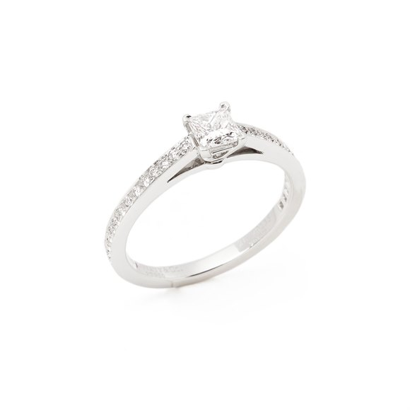 Tiffany & Co. Princess Cut Diamond Platinum Ring