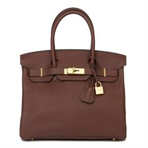 Hermès Havane Clemence Leather Birkin 30cm