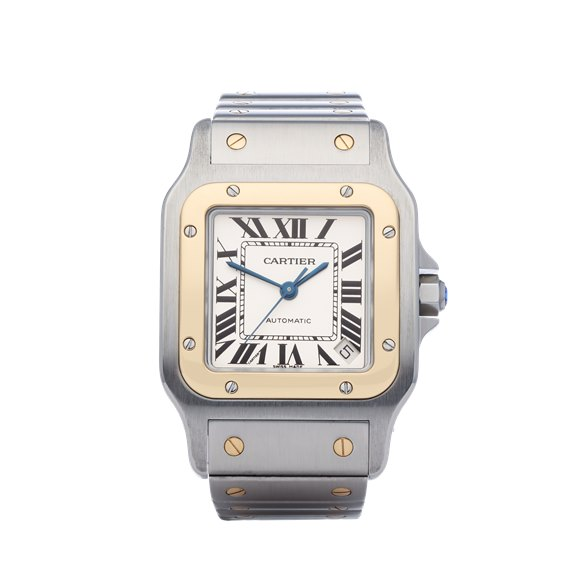 Cartier Santos Galbee XL Automatic 18K Stainless Steel & Yellow Gold - W20099C4 or 2823
