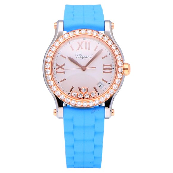 Chopard Happy Sport Stainless Steel & Rose Gold - 278582-6003