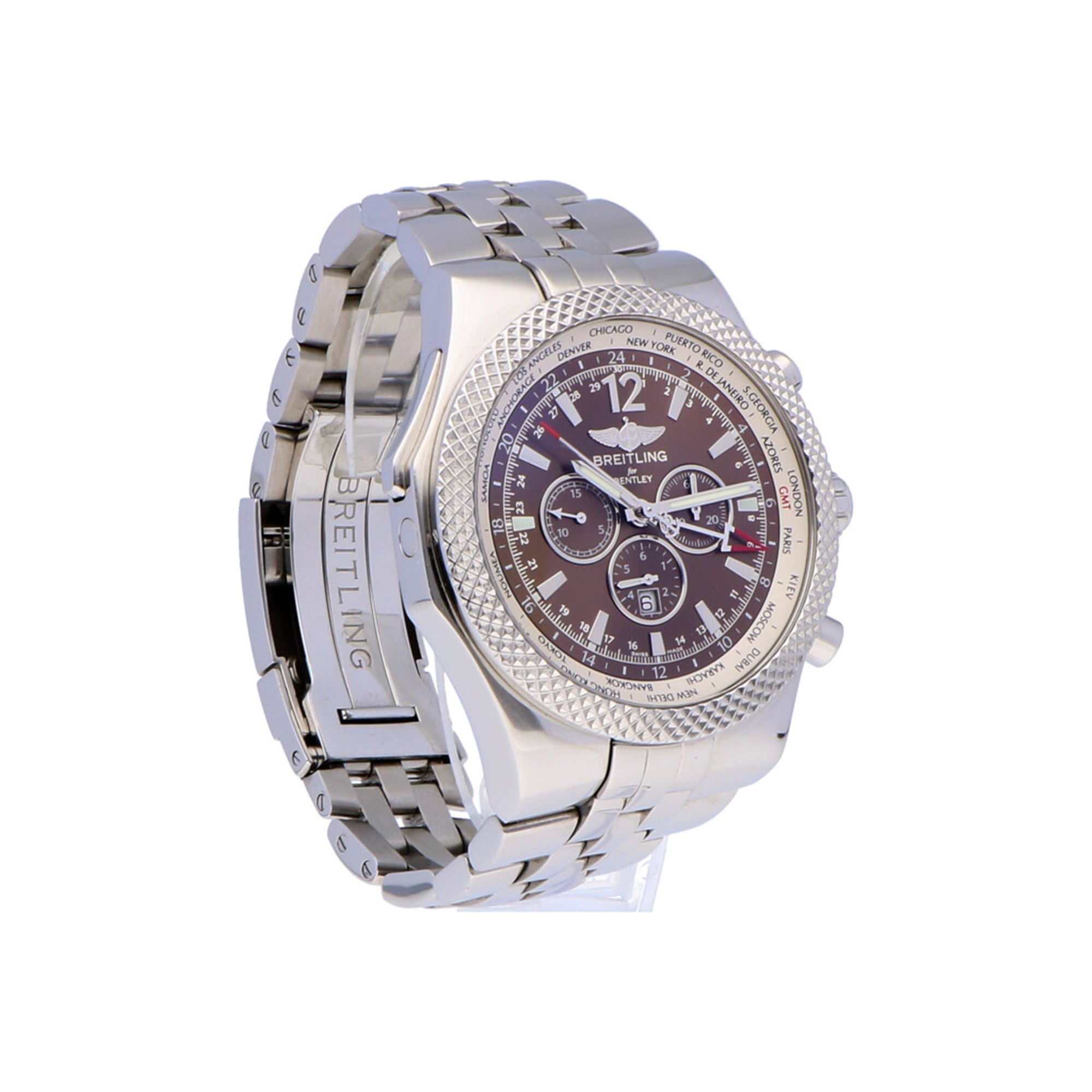 Breitling Bentley GMT Stainless Steel A4736212