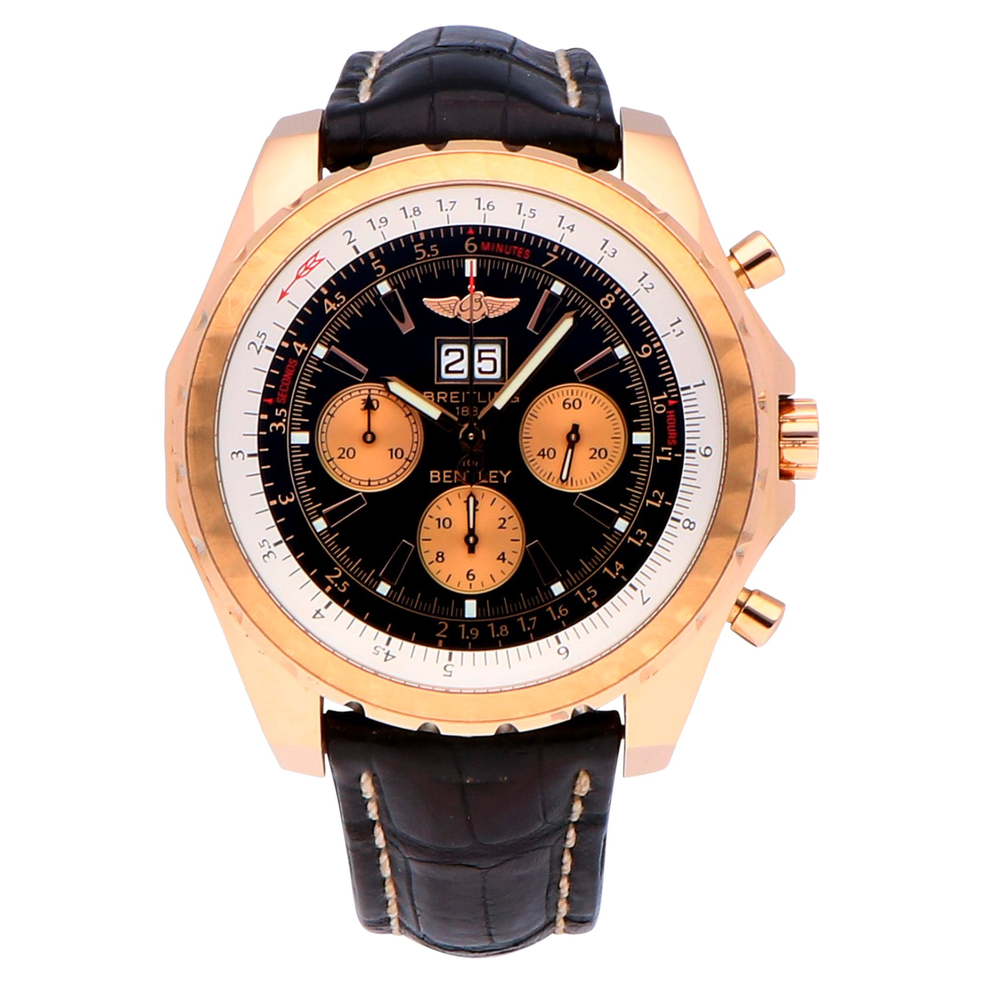 Breitling Bentley 18k Rose Gold H44363