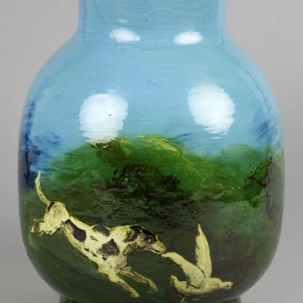 BURMANTOFTS FAIENCE VASE Circa 1882