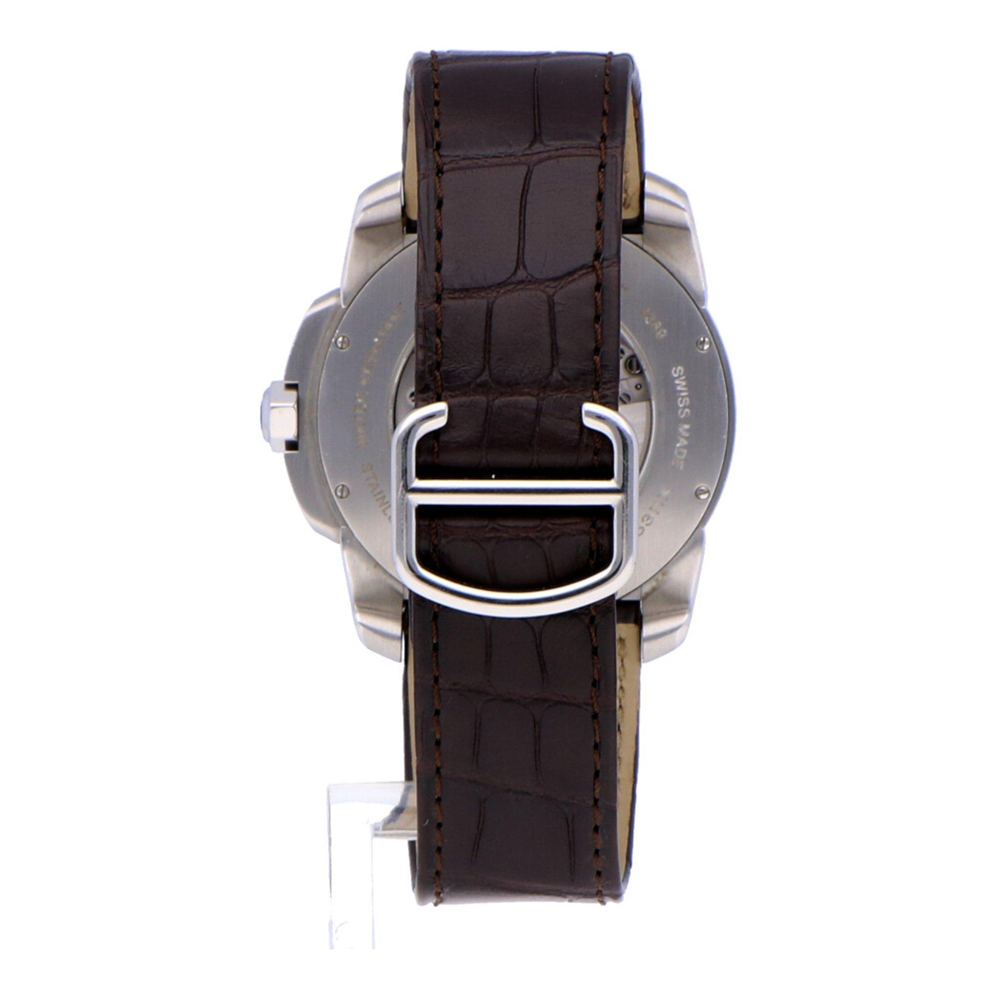 Cartier Calibre De Cartier Stainless Steel & Rose Gold 3389