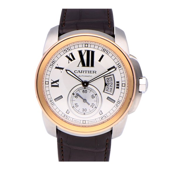 Cartier Calibre De Cartier Stainless Steel & Rose Gold - 3389
