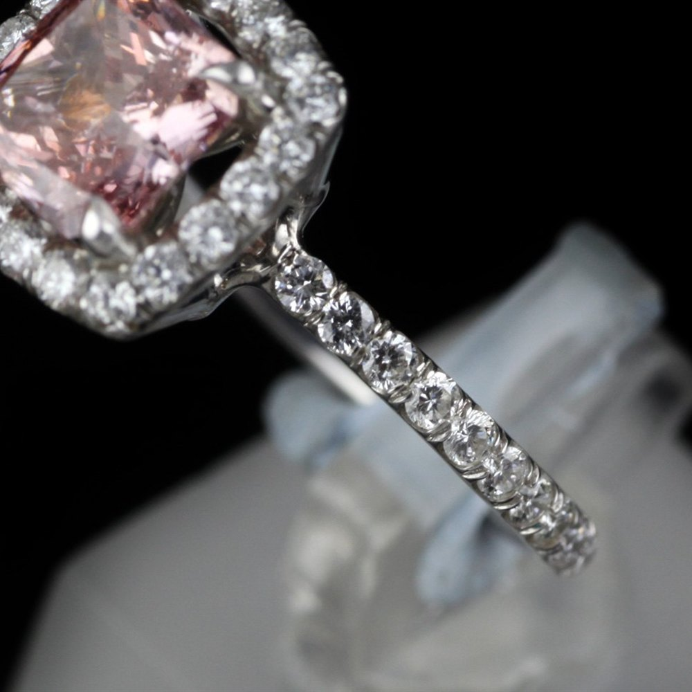 18k White & Pink Gold  18ct White & Pink Gold Pink Diamond Ring