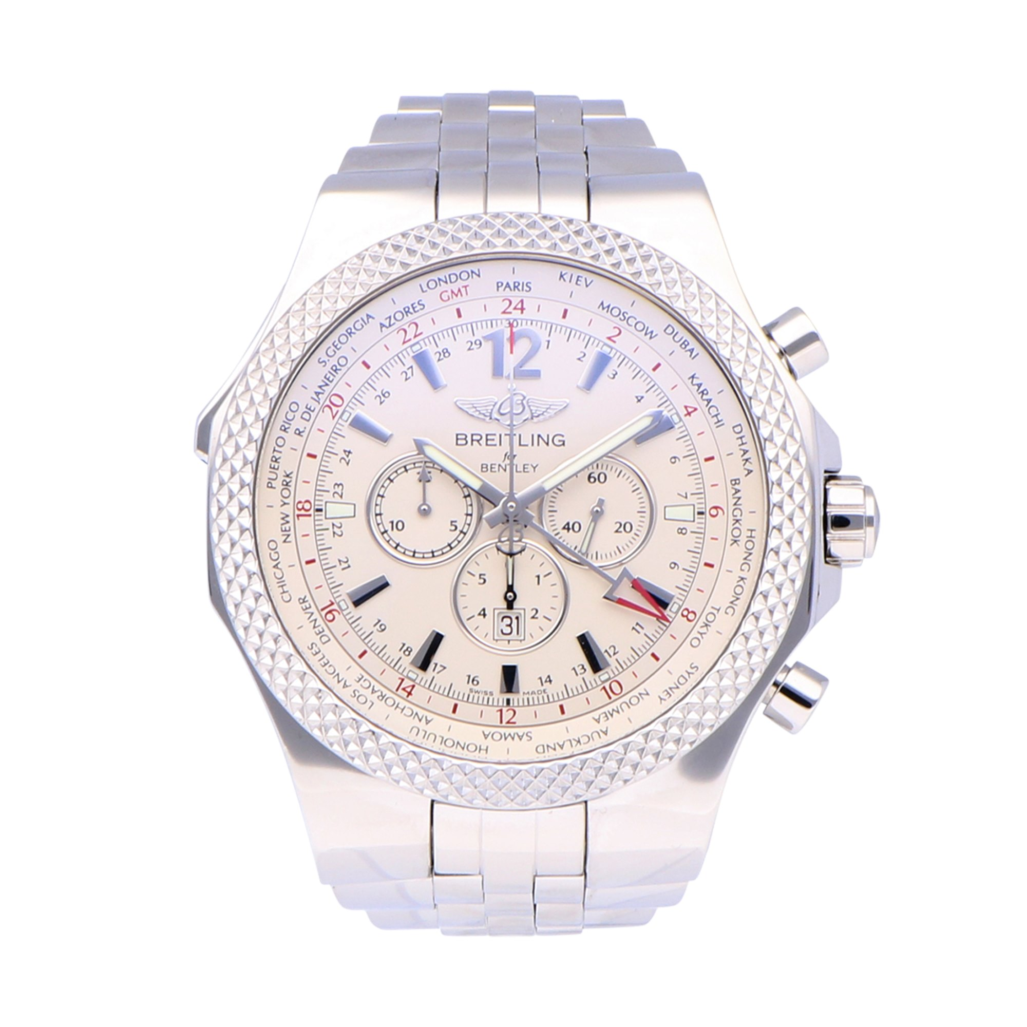 Breitling Bentley GMT Stainless Steel A4736212/998A