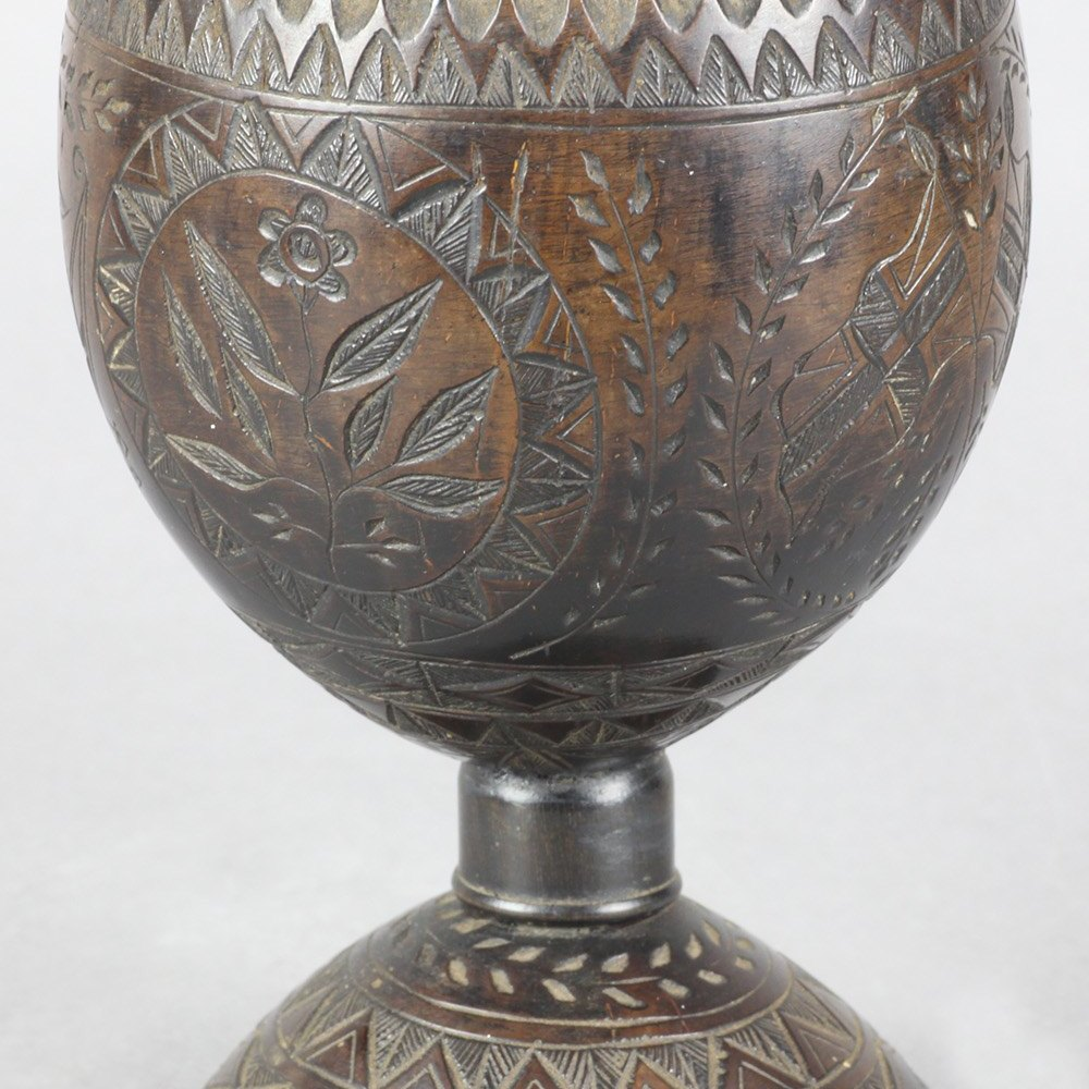 ACTS OF UNION CARVED COCONUT CUP Circa 1800