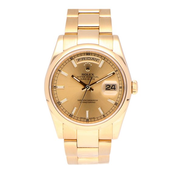 Rolex Day-Date 18k Yellow Gold - 118208