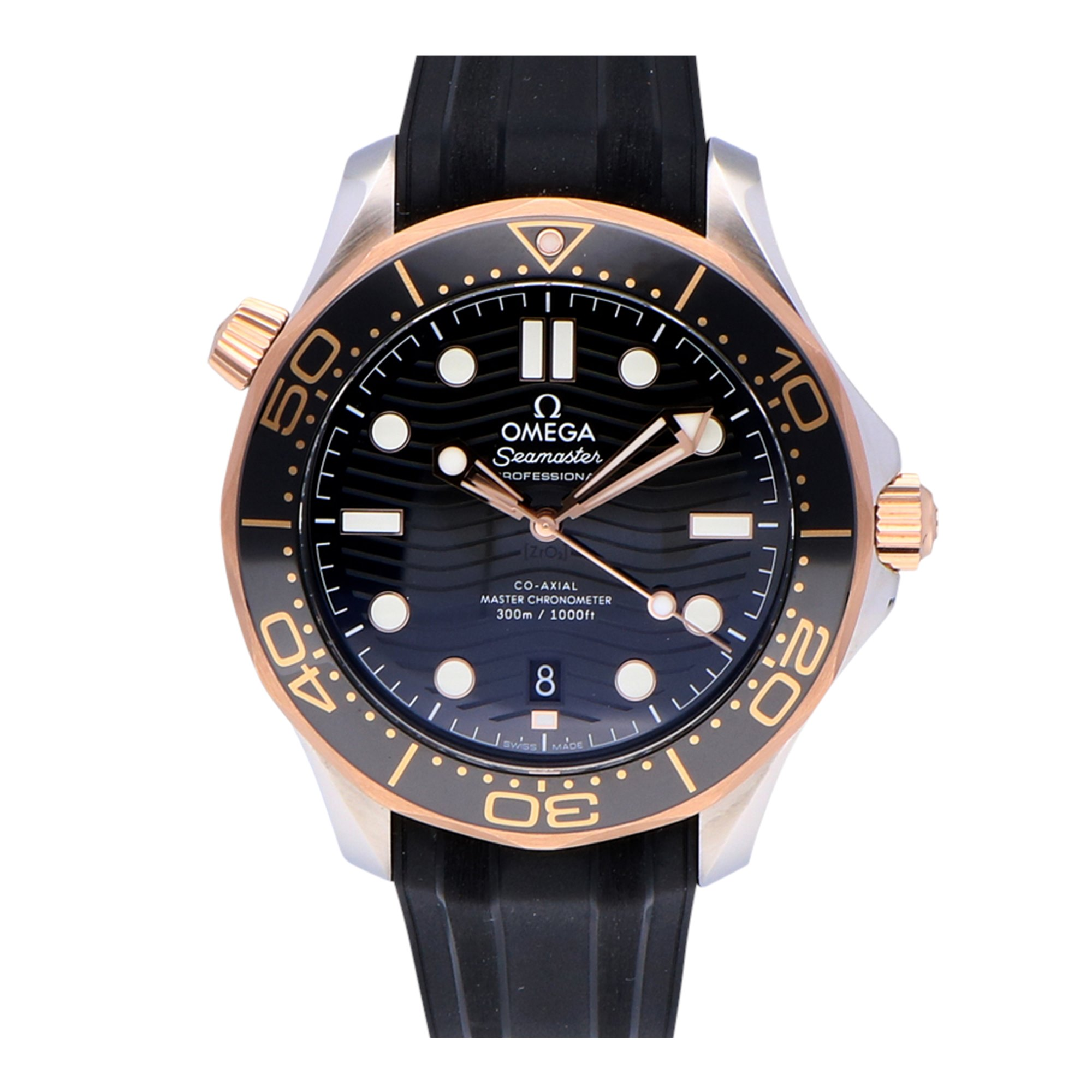 Omega Seamaster Stainless Steel & Rose Gold 210.22.42.20.01.002