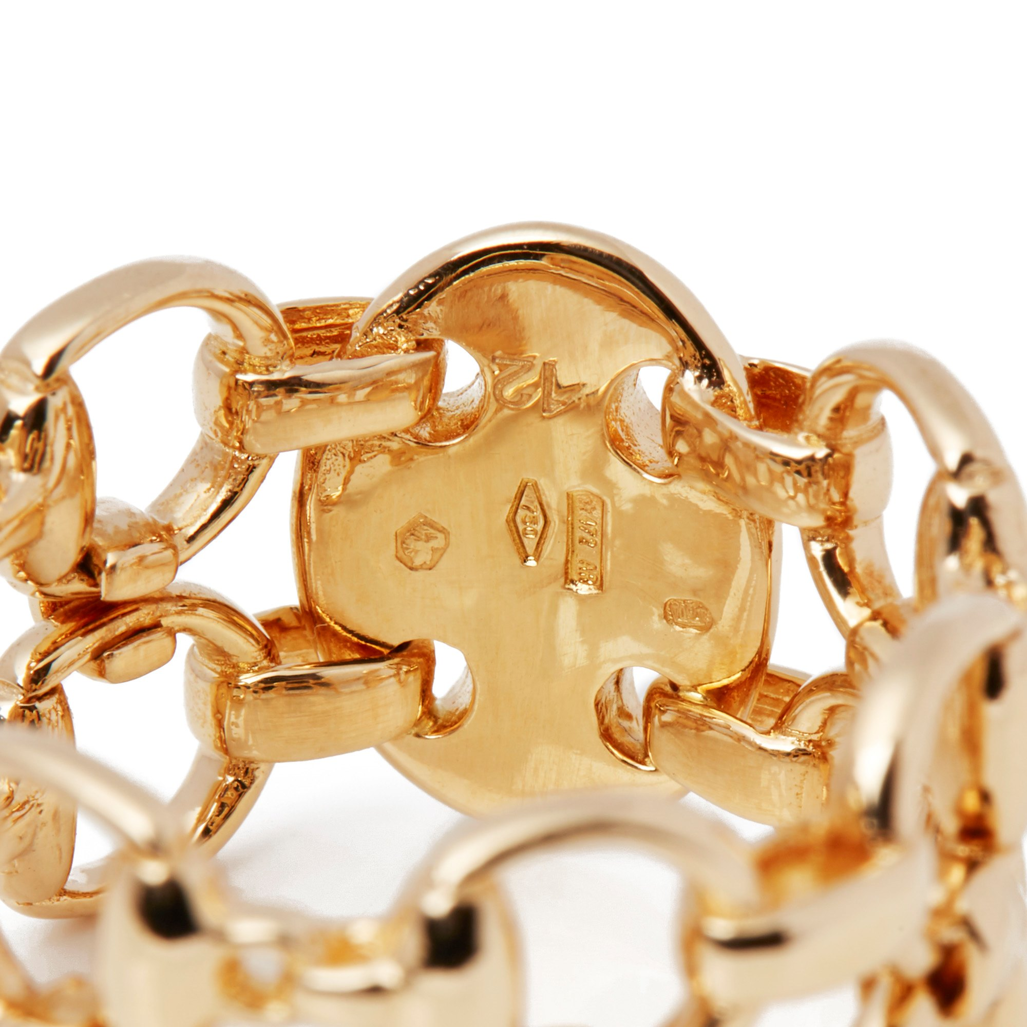 Gucci Horsebit 18ct Yellow Gold Band Ring