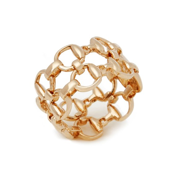 Gucci Horsebit 18ct Yellow Gold Band Ring