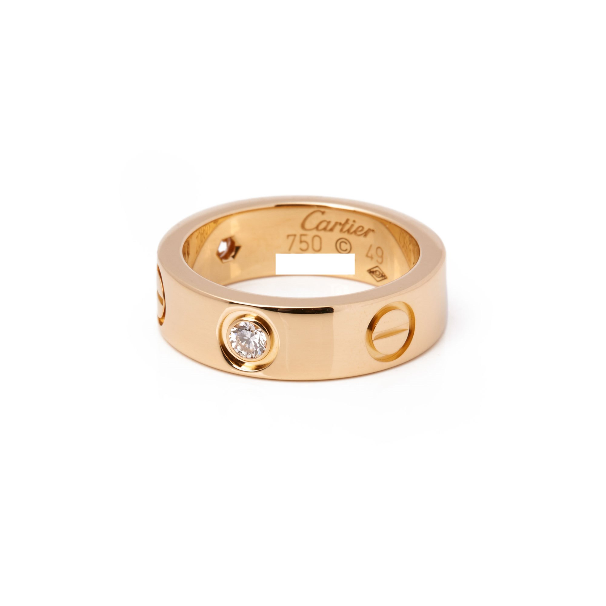 Cartier Love 18ct Yellow Gold 3 Diamond Ring
