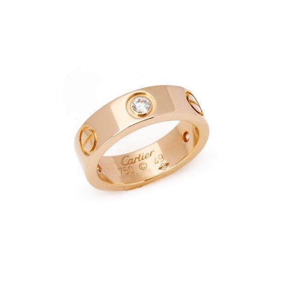 Cartier Love 18ct Yellow Gold 3 Diamond Ring