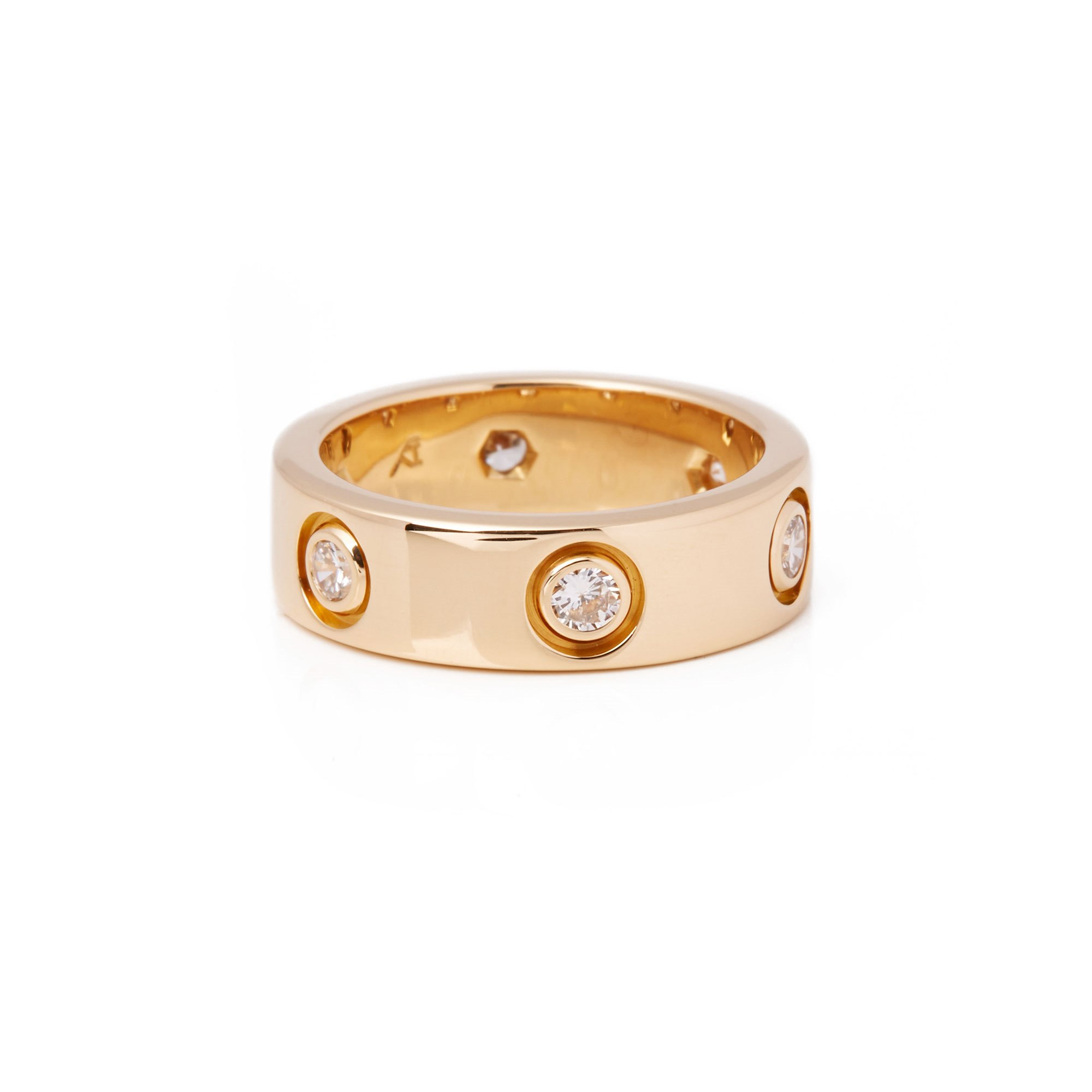 Cartier Love 18ct Yellow Gold Full Diamond Band Ring