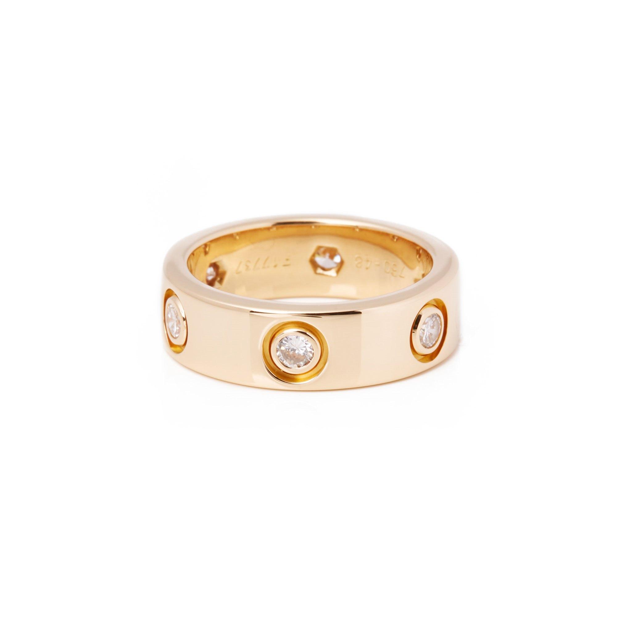 Cartier Love 18ct Yellow Gold Full Diamond Band Ring