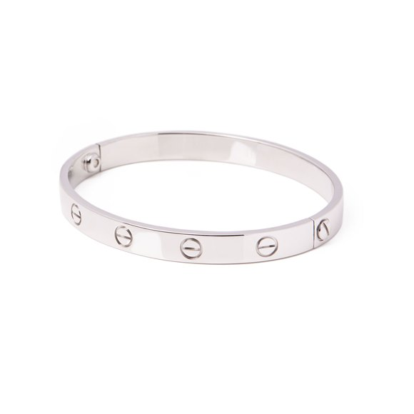 Cartier Love 18ct White Gold Bangle