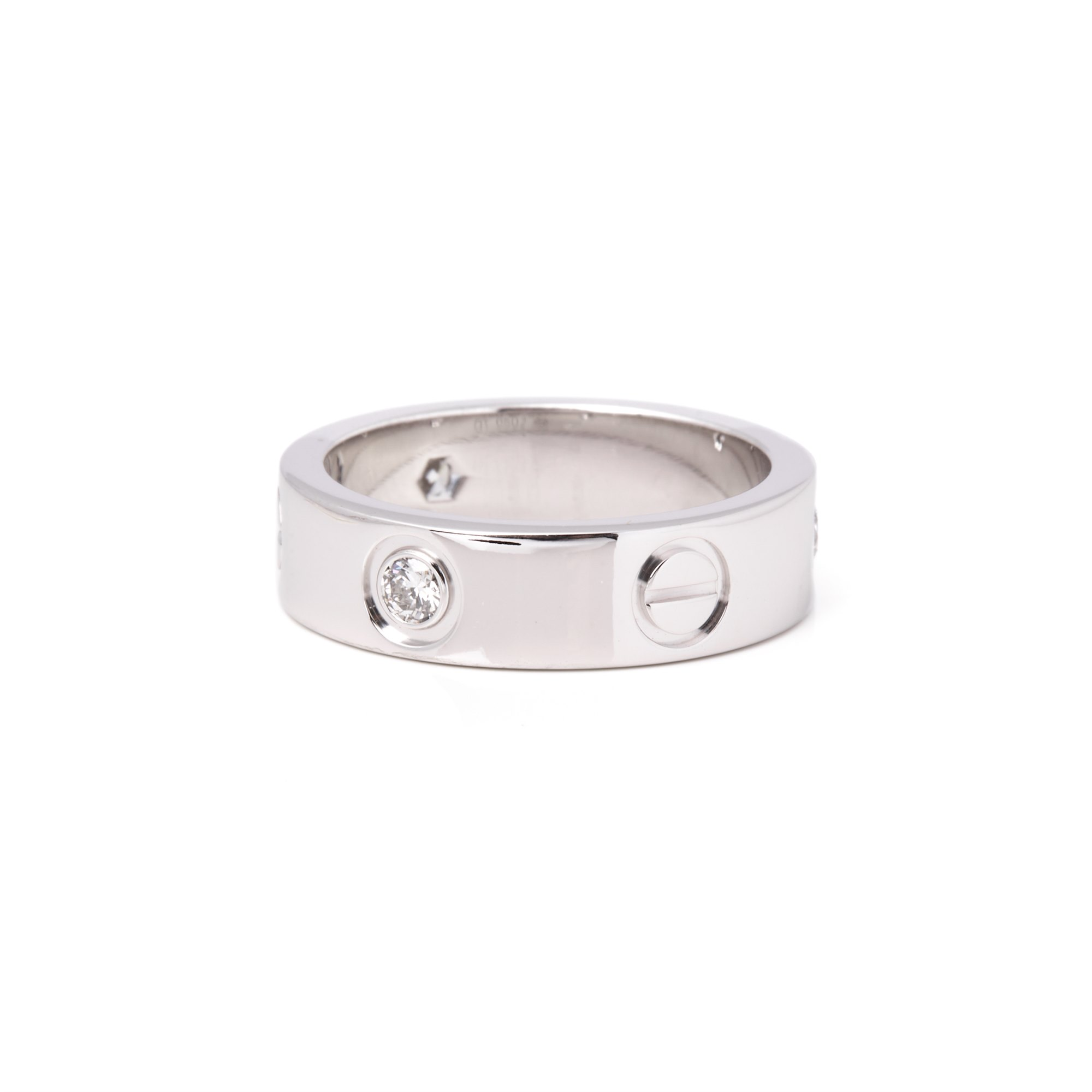Cartier Love 18ct White Gold 3 Diamond Ring