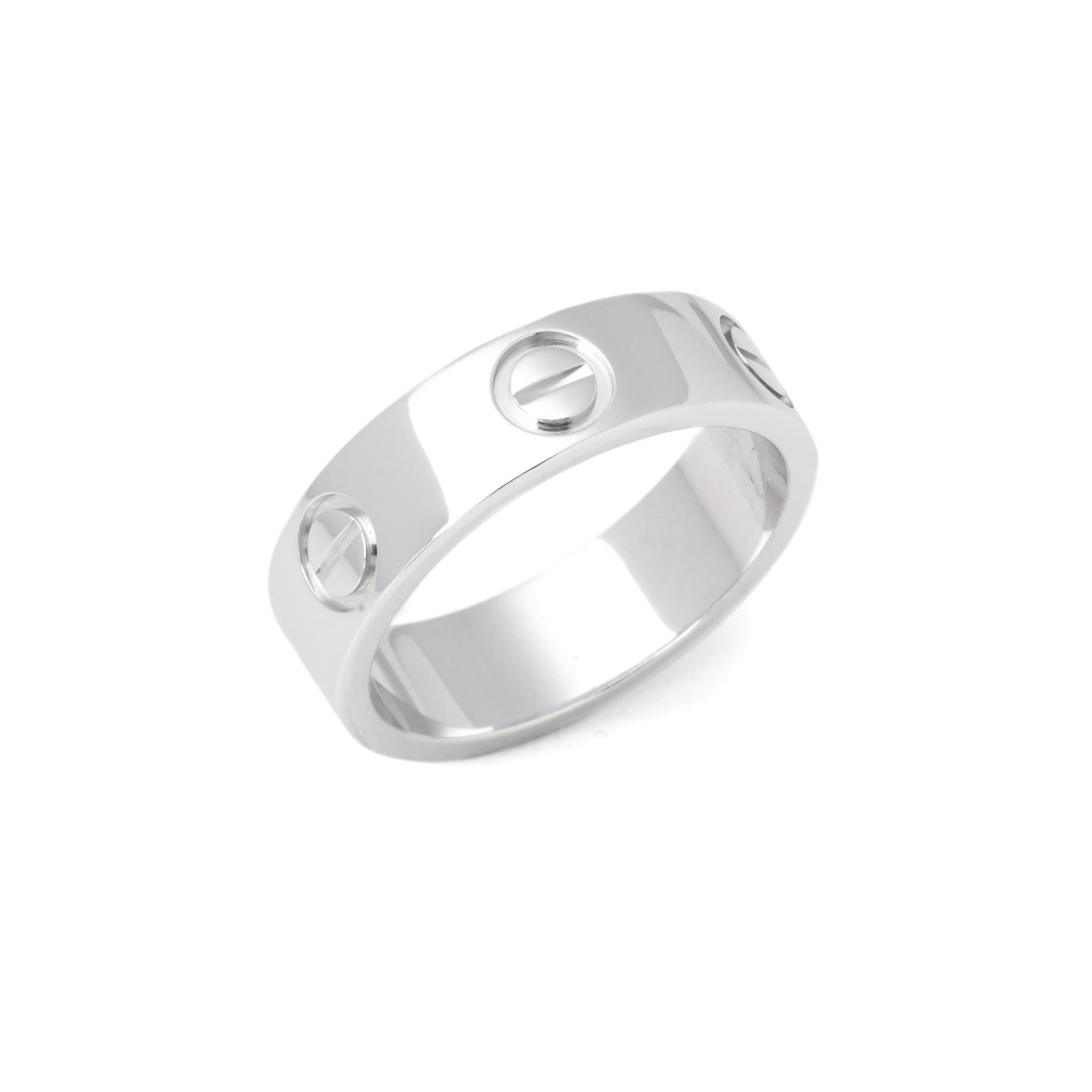 Cartier Love 18ct White Gold Band Ring