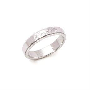 Tiffany & Co. Notes Milgrain Platinum Band Ring