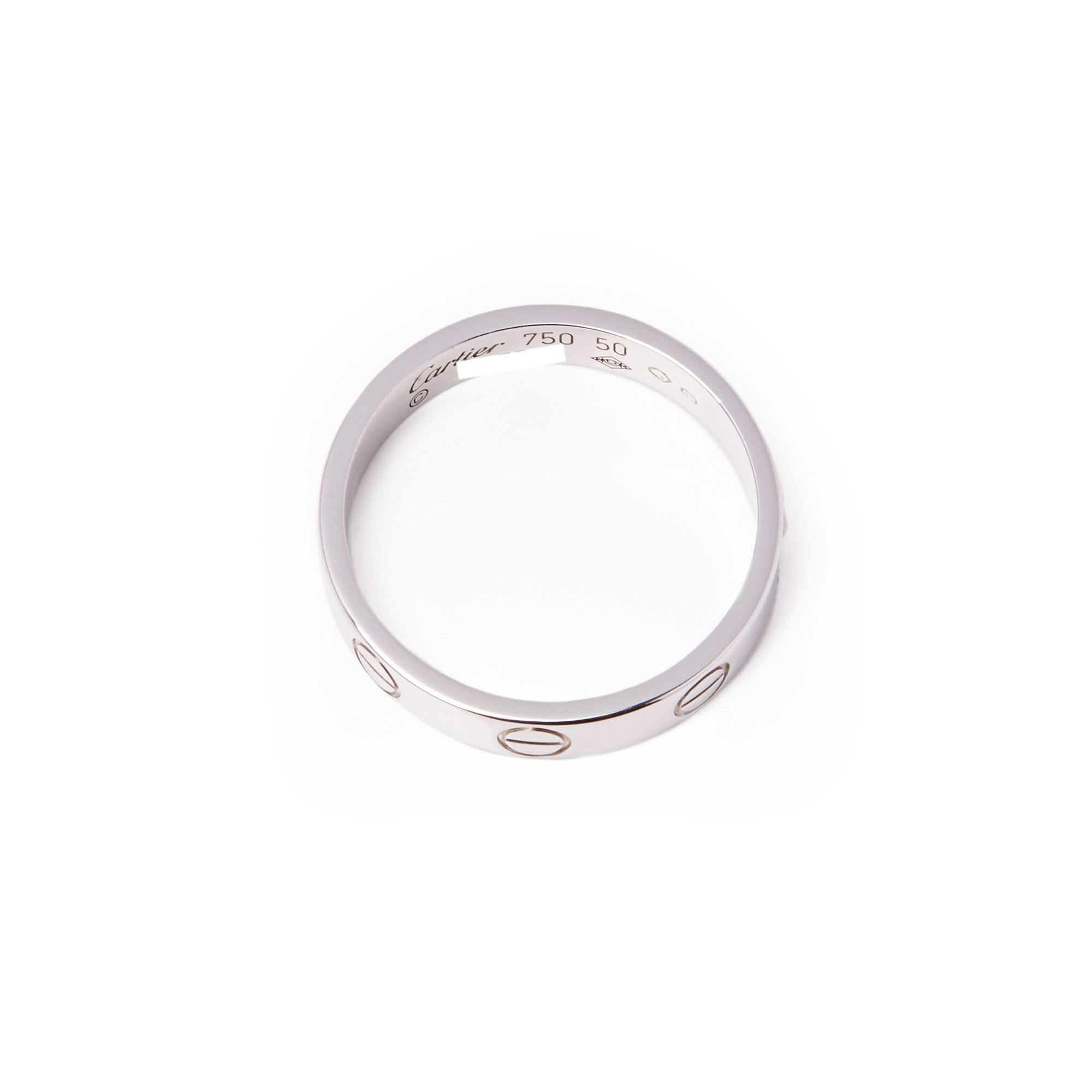Cartier Love 18ct White Gold Wedding Band Ring
